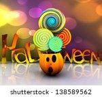 background of halloween  ...   Shutterstock . vector #138589562