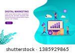 digital marketing illustration... | Shutterstock .eps vector #1385929865