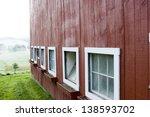 red barn  stowe  vermont  usa | Shutterstock . vector #138593702