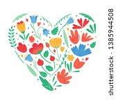 Heart Shape Of Flowers For...