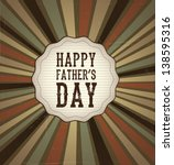 fag  happy fathers day over... | Shutterstock .eps vector #138595316