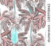 watercolor seamless pattern... | Shutterstock . vector #1385958662
