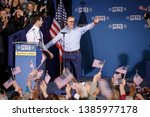 Small photo of South Bend's Mayor Pete Buttigieg and his husband Chasten Buttigieg attend a rally to announce Pete Buttigieg's 2020 Democratic presidential candidacy in South Bend, Indiana, U.S., April 14, 2019.