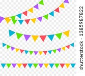 birthday party invitation... | Shutterstock .eps vector #1385987822