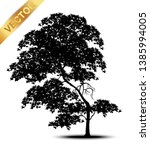 tree silhouette isolated on... | Shutterstock .eps vector #1385994005