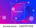 abstract background with purple ... | Shutterstock .eps vector #1385997908