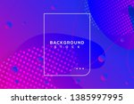 abstract fluid banner with... | Shutterstock .eps vector #1385997995