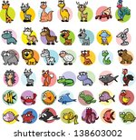 set of cartoon vector animals | Shutterstock .eps vector #138603002
