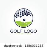 Golf Flag Tournament Logo...