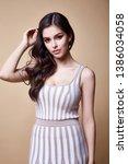 portrait of beautiful sexy... | Shutterstock . vector #1386034058