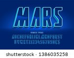 futuristic 3d font design ... | Shutterstock .eps vector #1386035258