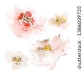 set of vegetable watercolor... | Shutterstock . vector #1386039725