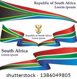 flag of south africa  republic... | Shutterstock .eps vector #1386049805