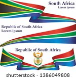 flag of south africa  republic... | Shutterstock .eps vector #1386049808