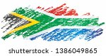 flag of south africa  republic... | Shutterstock .eps vector #1386049865