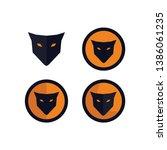 bundle foxes head logo concept | Shutterstock .eps vector #1386061235