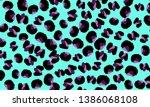 leopard print. animal skin... | Shutterstock .eps vector #1386068108