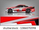 car wrap design vector  truck... | Shutterstock .eps vector #1386070598
