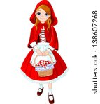 illustration of little red... | Shutterstock .eps vector #138607268