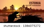 Vector Panorama Of Estonia Wit...