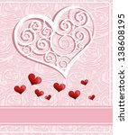 invitation card design. wedding ... | Shutterstock .eps vector #138608195