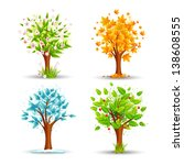 vector illustration of tree of... | Shutterstock .eps vector #138608555