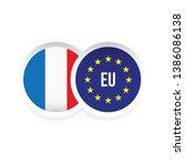 france european union badge... | Shutterstock .eps vector #1386086138