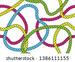 colorful seamless rope pattern... | Shutterstock .eps vector #1386111155