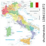 italy administrative divisions... | Shutterstock .eps vector #1386111872
