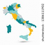 italy map isolated on... | Shutterstock .eps vector #1386111902