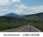 wyoming  usa  july 2018  late... | Shutterstock . vector #1386130208