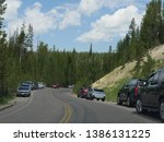wyoming  usa  july 2018 ... | Shutterstock . vector #1386131225