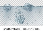 three translucent gray ice... | Shutterstock .eps vector #1386140138