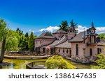mount fuji in the autumn in... | Shutterstock . vector #1386147635
