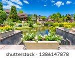 mount fuji in the autumn in... | Shutterstock . vector #1386147878