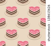 seamless pattern with many cake | Shutterstock .eps vector #138615626