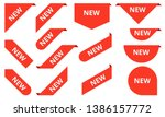 new ribbons. corner banner  new ... | Shutterstock .eps vector #1386157772