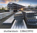 construction site at sunset | Shutterstock . vector #138615992