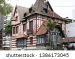 Beautiful european style building resembling an old castle called Villa Normandy