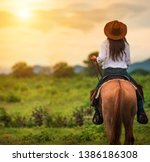 Horseback riding from behind...