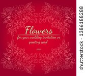 wreath of roses or peonies... | Shutterstock .eps vector #1386188288