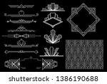 art deco elements   vector | Shutterstock .eps vector #1386190688