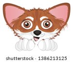 snout of chihuahua with two paws   Shutterstock . vector #1386213125