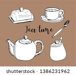 vector illustration on color... | Shutterstock .eps vector #1386231962