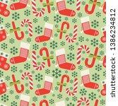 christmas vector seamless... | Shutterstock .eps vector #1386234812