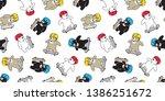 bear seamless pattern... | Shutterstock .eps vector #1386251672