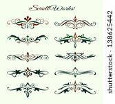 scroll works design  ornamental ... | Shutterstock .eps vector #138625442