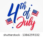 fourth of july. 4th of july... | Shutterstock .eps vector #1386259232