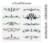 scroll works design  ornamental ...   Shutterstock .eps vector #138626852