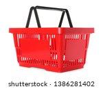 color plastic shopping basket... | Shutterstock . vector #1386281402